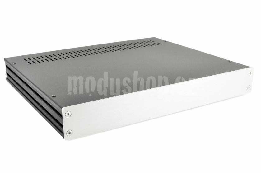 1GX348 - 1U Galaxy krabice, 280mm hluboká, 4mm-panel stříbrný, 330mm široká