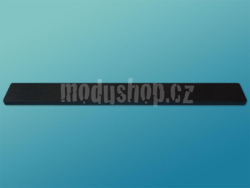 1NSL01230N - 1U rack krabice s lištou, 230mm, 10mm - panel černý