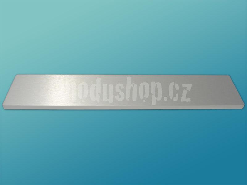 1NSLA02230B - 2U rack krabice s lištou, 230mm, 10mm - panel stříbrný, AL víka
