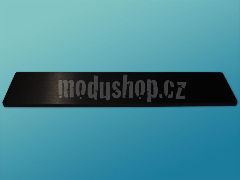 1NSL02280N - 2U rack krabice s lištou, 280mm, 10mm - panel černý