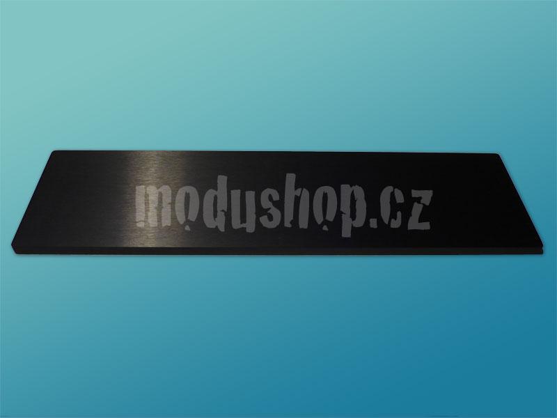 1NPDA03300N - 3U Krabice s chladičem, 300mm, 10mm-panel černý, AL víka