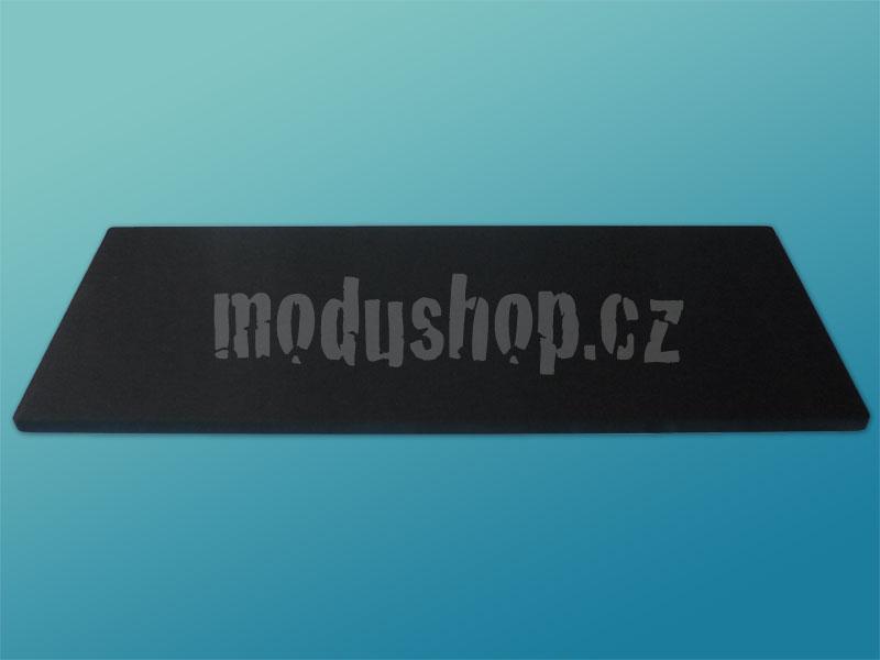 1NSL04280N - 4U rack krabice s lištou, 280mm, 10mm - panel černý