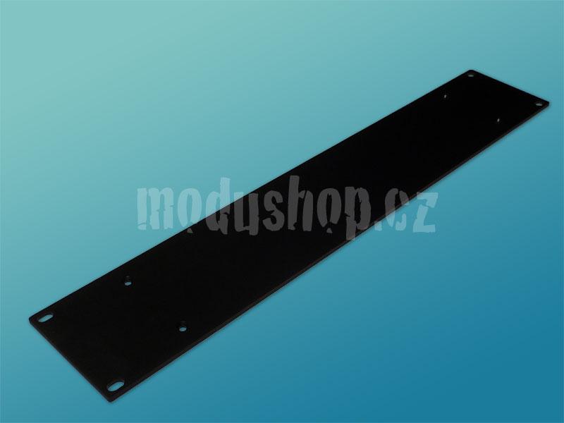 2U černý 4mm rack panel pro krabice s chladičem