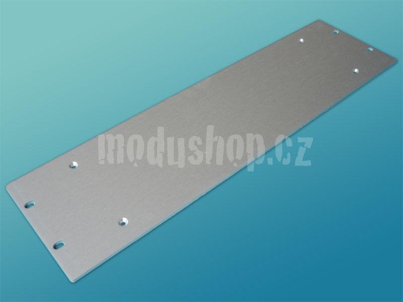 3PD0307B - 4mm, 3U čelní panel, stříbrný pro krabice s chladičem