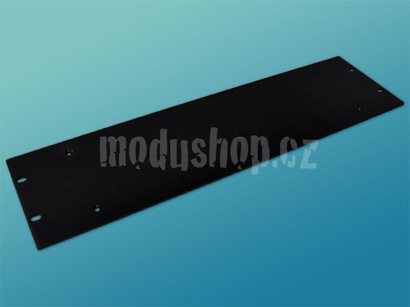 4mm, 3U čelní panel, černý pro krabice s chladičem