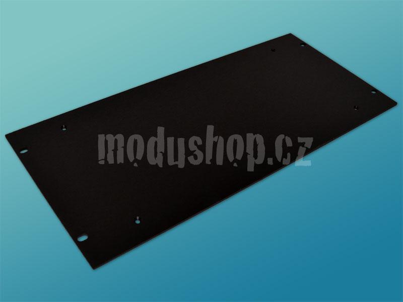 4mm, 5U čelní panel, černý pro krabice s chladičem