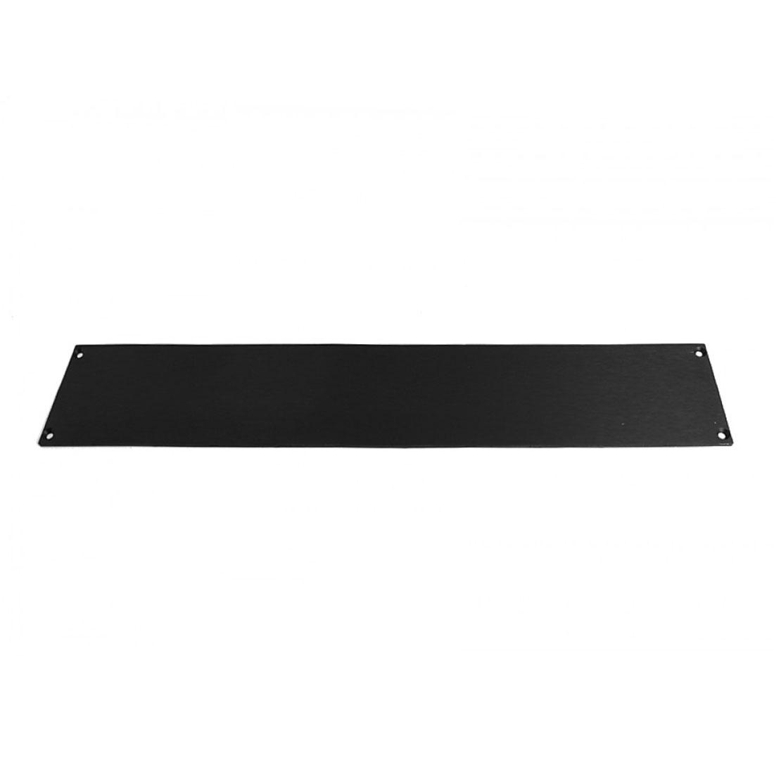 1NSLA02230N - 2U rack krabice s lištou, 230mm, 10mm - panel černý, AL víka