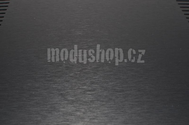 1NPDA02400B - 2U Krabice s chladičem, 400mm, 10mm-panel stříbrný, AL víka