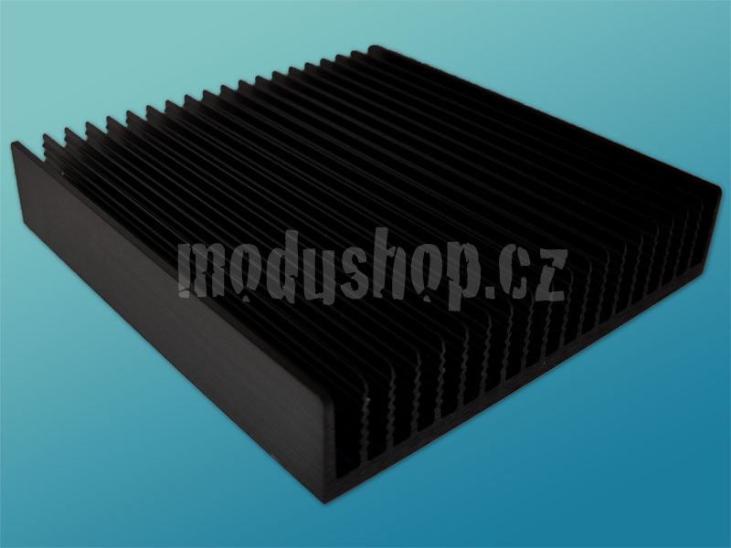 1NPDA05400B - 5U Krabice s chladičem, 400mm, 10mm-panel stříbrný, AL víka