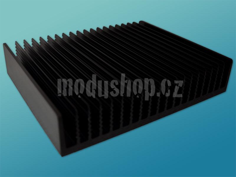 1PD04400B - 4U Krabice s chladičem, 400mm, 4mm-rack stříbrný