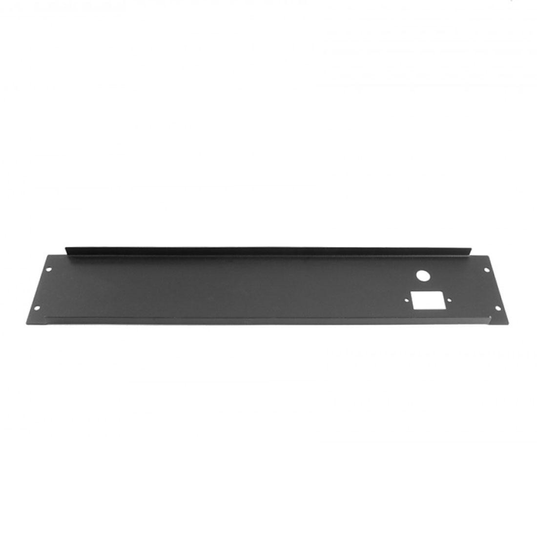 1PS02P400N - 2U rack krabice plechová, 400mm, 4mm - rack panel černý