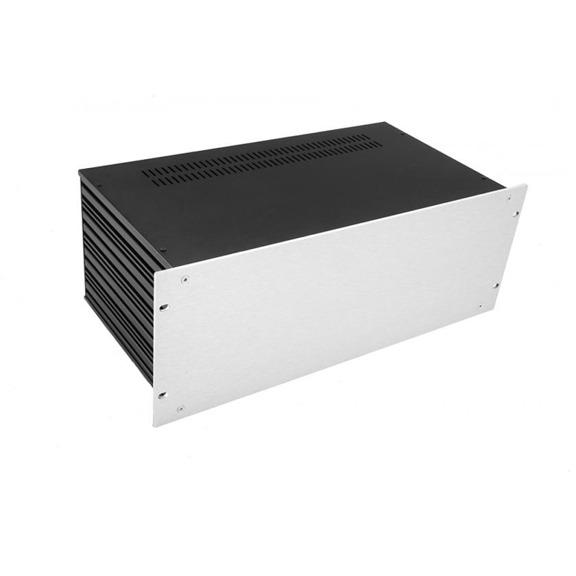 1SL04230B - 4U rack krabice s lištou, 230mm, 4mm - rack panel stříbrný