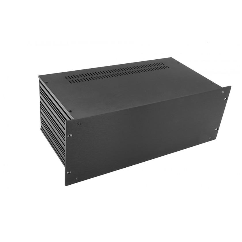 1SL04230N - 4U rack krabice s lištou, 230mm, 4mm - rack panel černý
