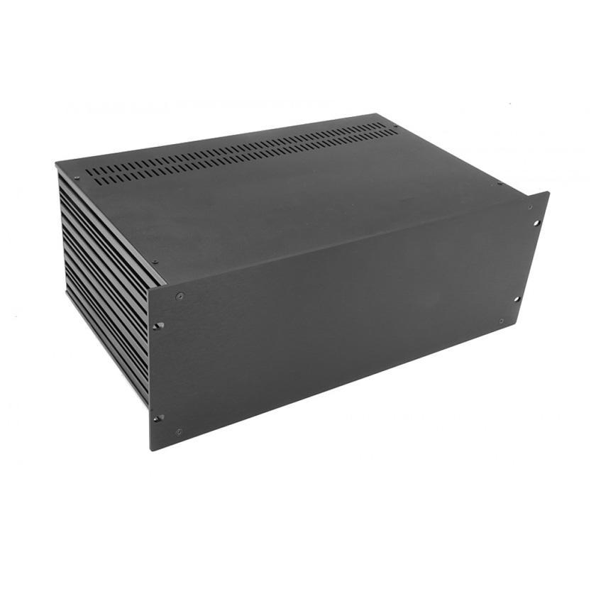 1SL04280N - 4U rack krabice s lištou, 280mm, 4mm - rack panel černý