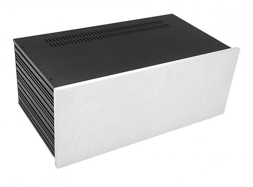 4U rack krabice s lištou, 230mm, 10mm - panel stříbrný