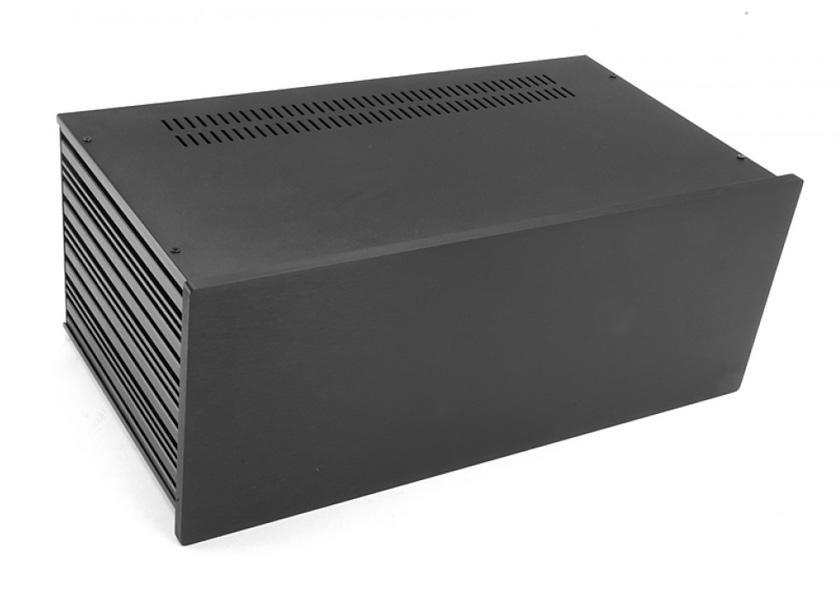 4U rack krabice s lištou, 230mm, 10mm - panel černý