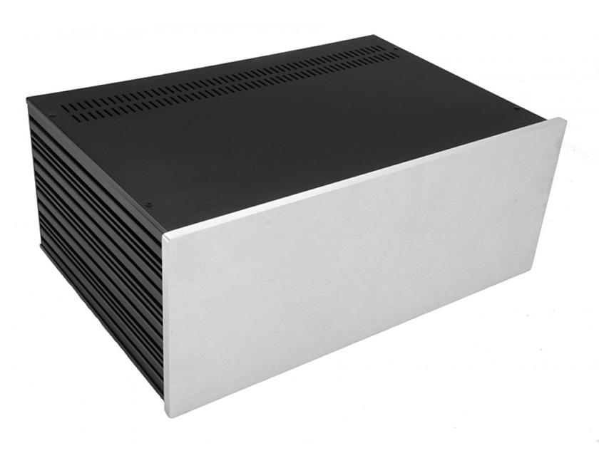 4U rack krabice s lištou, 280mm, 10mm - panel stříbrný