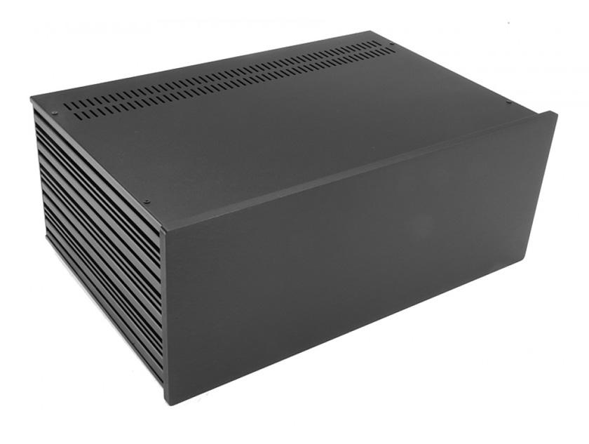 4U rack krabice s lištou, 280mm, 10mm - panel černý