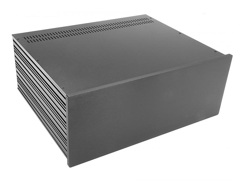4U rack krabice s lištou, 350mm, 10mm - panel černý