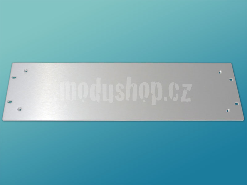 3U 4mm rack panel stříbrný