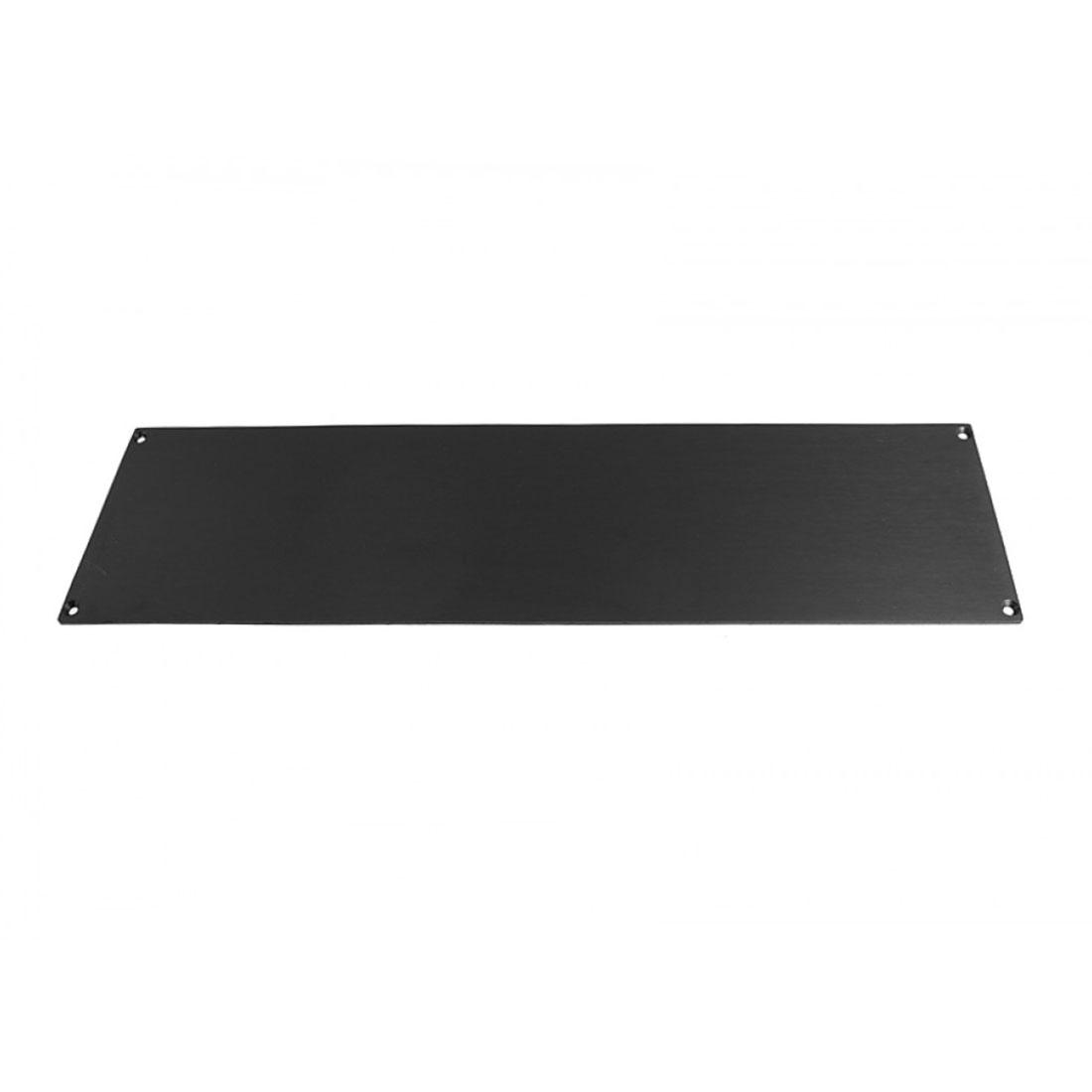 1NSLA03230N - 3U rack krabice s lištou, 230mm, 10mm - panel černý, AL víka