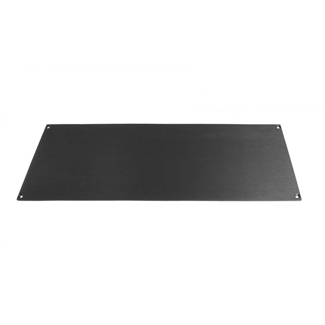 1NSL04170B - 4U rack krabice s lištou, 170mm, 10mm - panel stříbrný