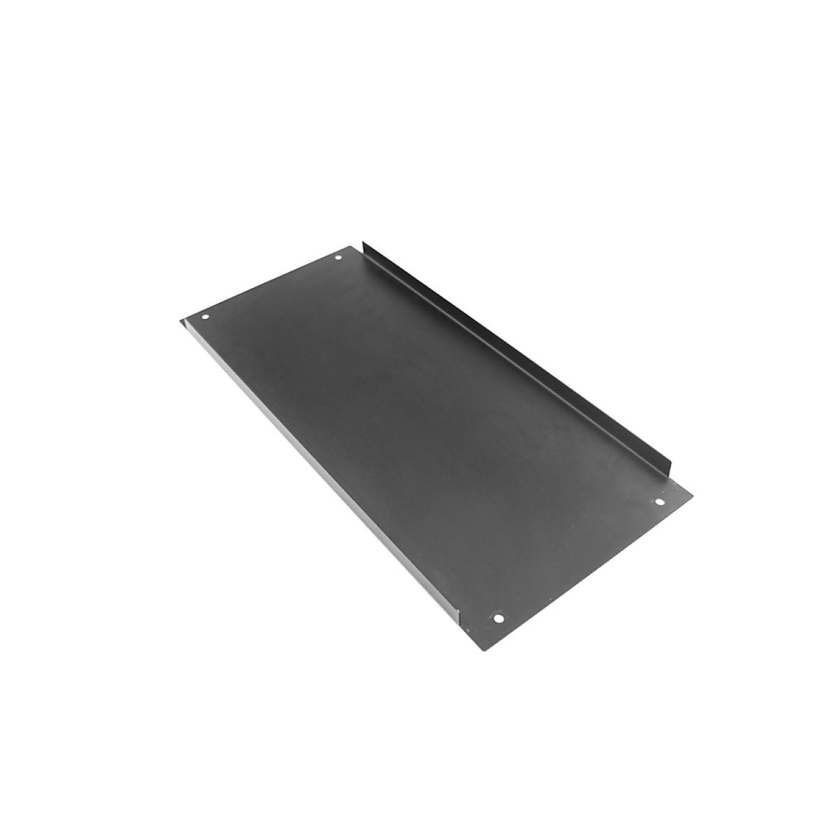 1NPD04400N - 4U Krabice s chladičem, 400mm, 10mm-panel černý