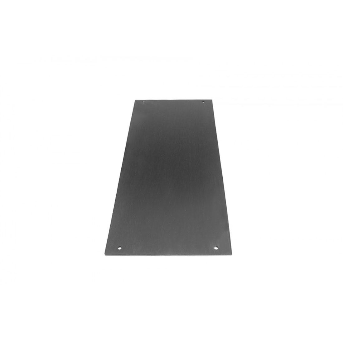 1NPDA04300B - 4U Krabice s chladičem, 300mm, 10mm-panel stříbrný, AL víka