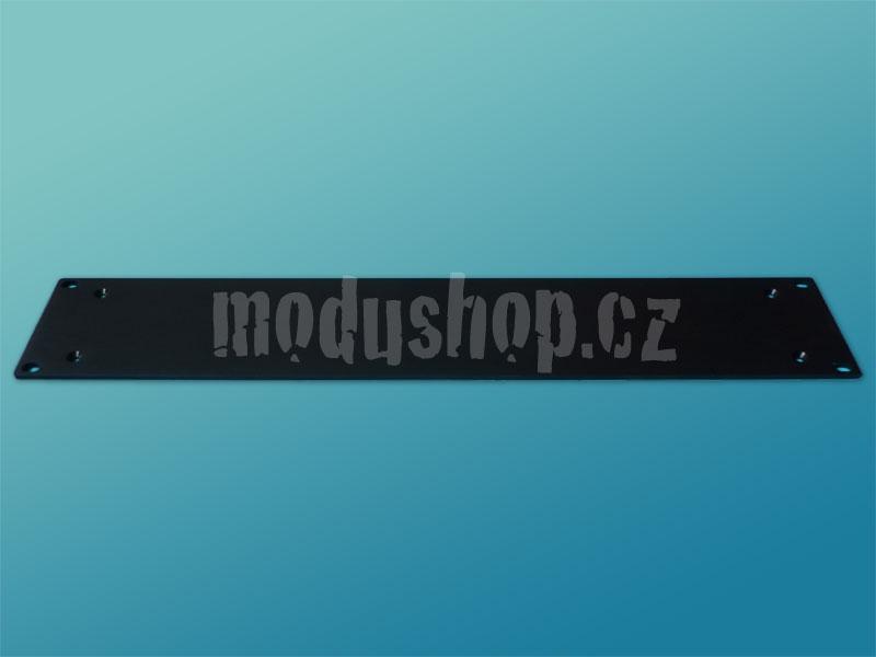 3PE02P07N - 4mm, 2U čelní panel, černý, pro krabice plechové