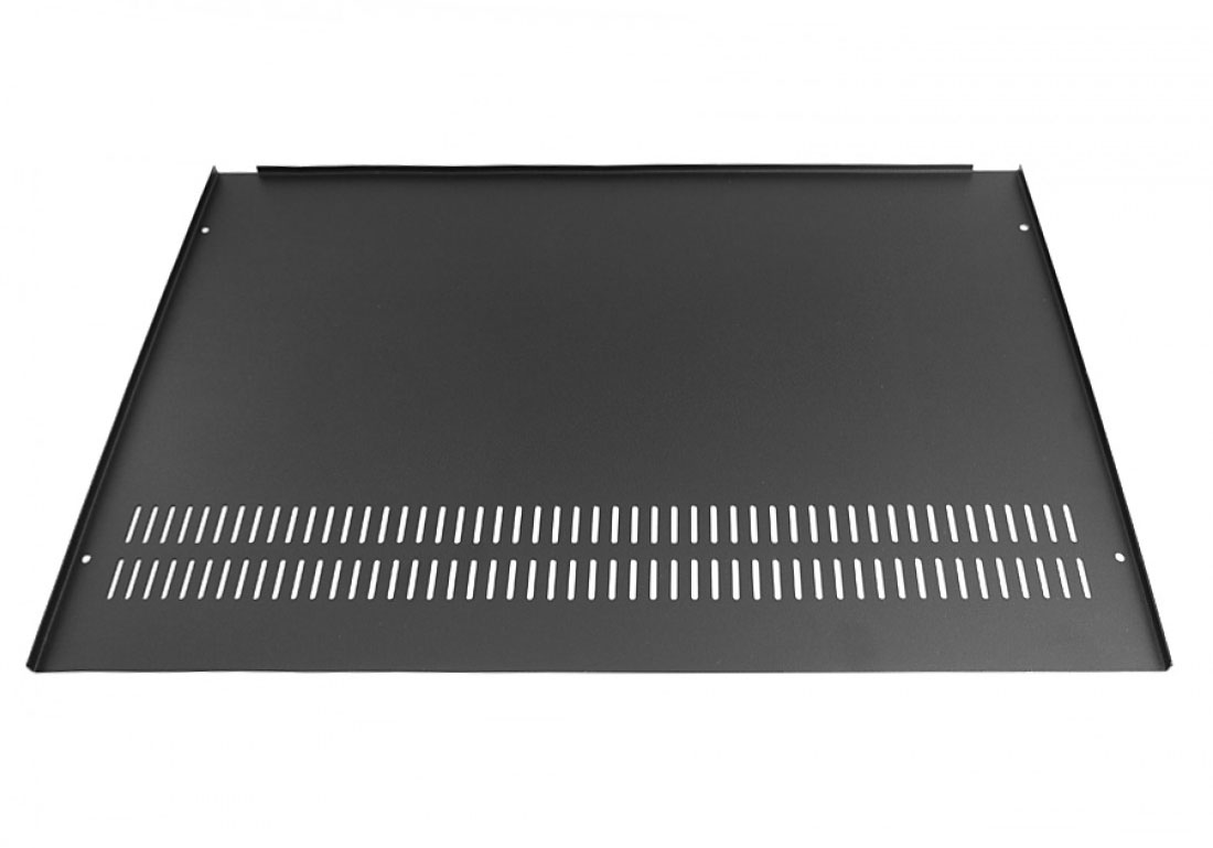 1NSL01280N - 1U rack krabice s lištou, 280mm, 10mm - panel černý