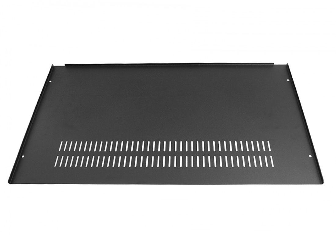 1NSL01230B - 1U rack krabice s lištou, 230mm, 10mm - panel stříbrný