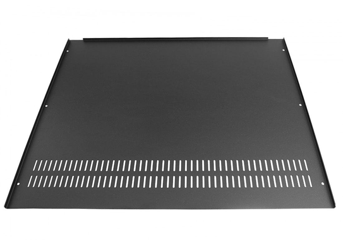 1SL02350B - 2U rack krabice s lištou, 350mm, 4mm - rack panel stříbrný