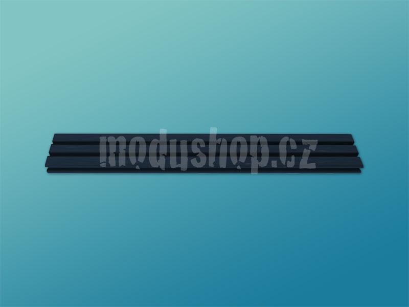 1SL01280B - 1U rack krabice s lištou, 280mm, 4mm - rack panel stříbrný