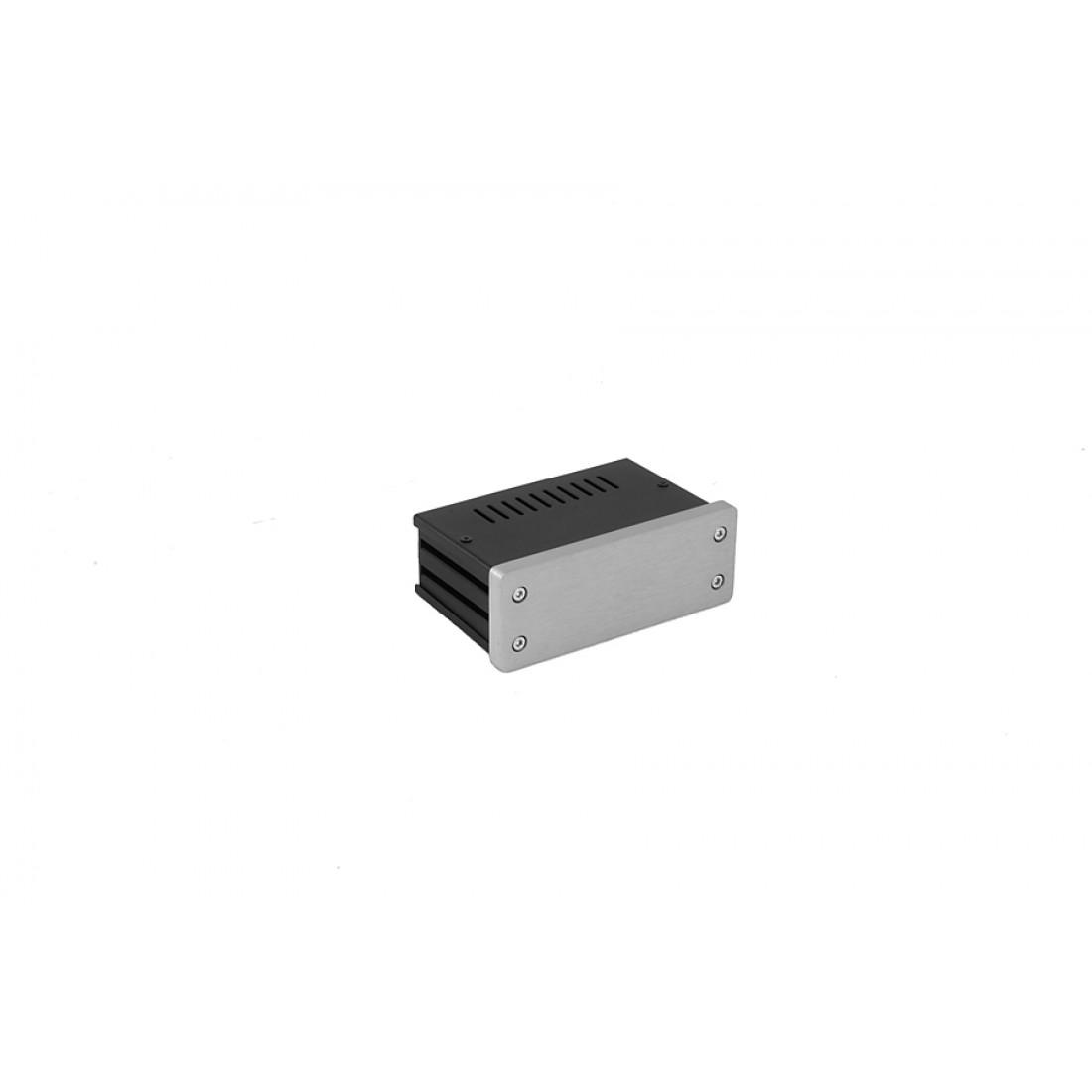 1NGX140 - 1U Galaxy krabice, 124 x 73 x 40mm, 10mm panel stříbrný, Fe víka