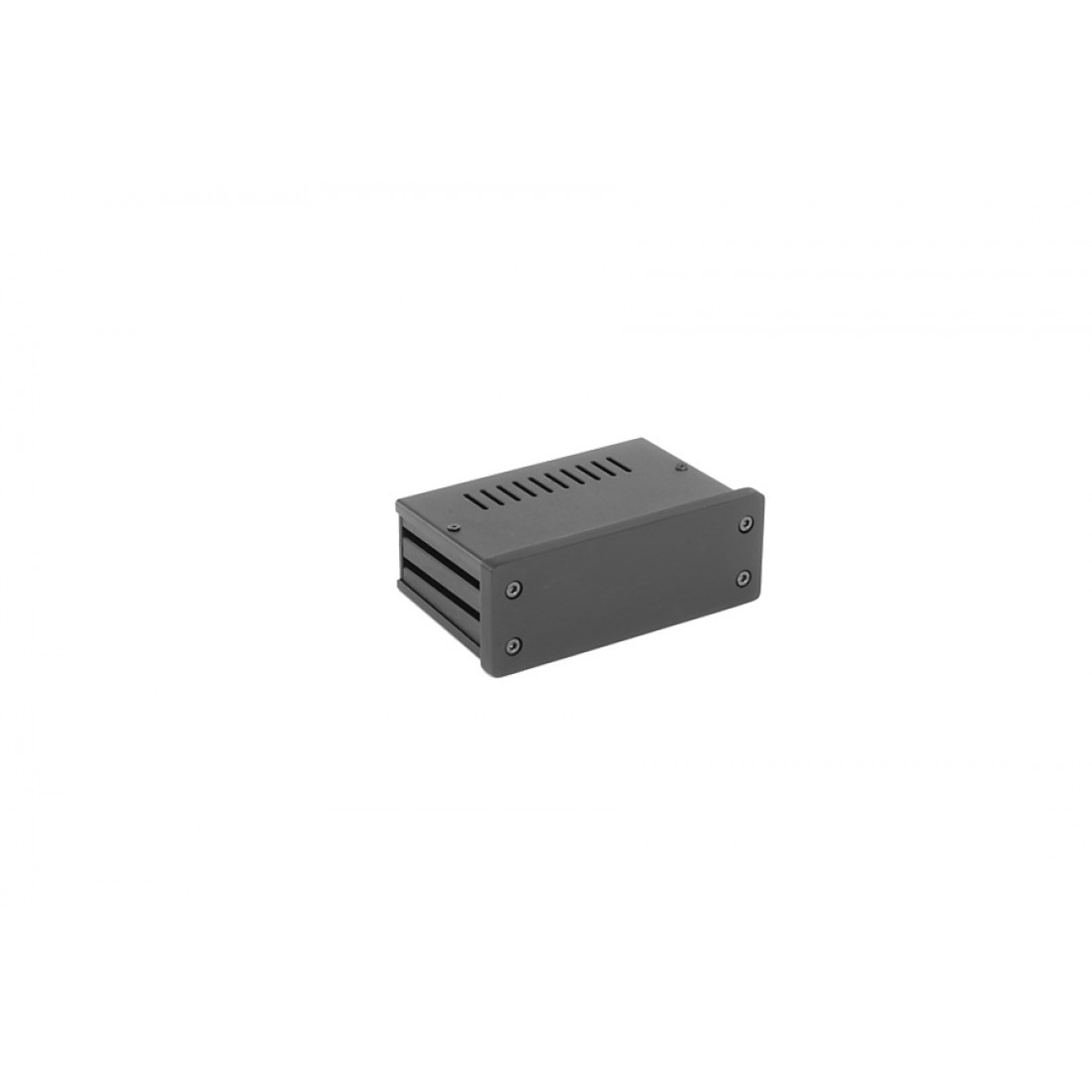 1NGX140N - 1U Galaxy krabice, 124 x 73 x 40mm, 10mm panel černý, Fe víka