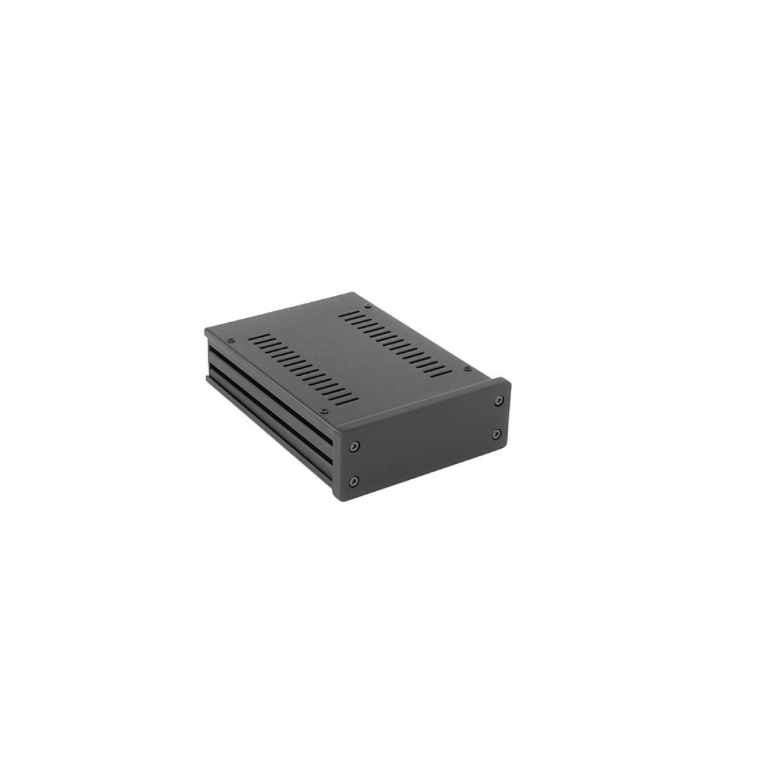 1NGX147N - 1U Galaxy krabice, 124 x 170 x 40mm, 10mm panel černý, Fe víka