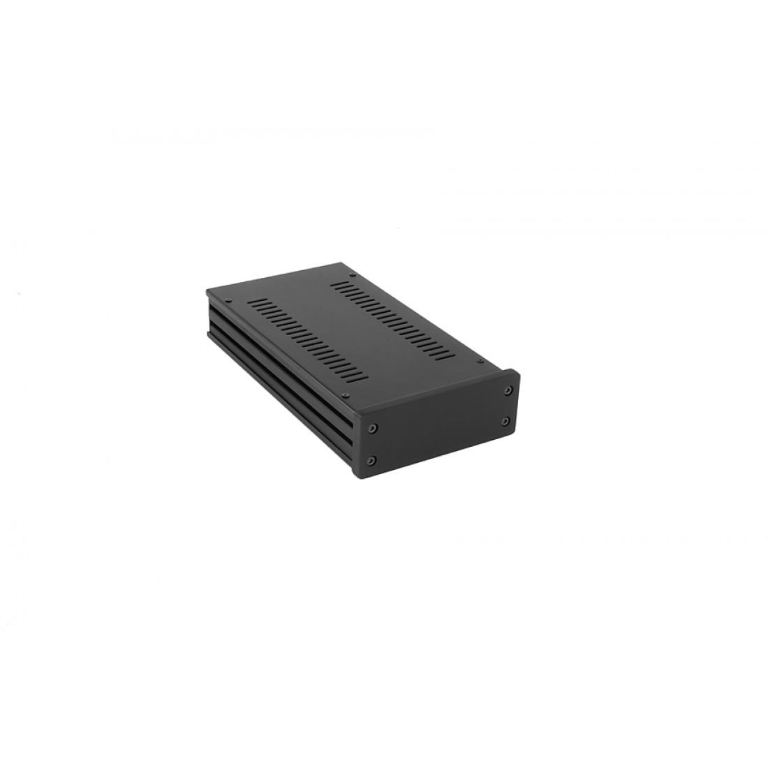 1NGX143N - 1U Galaxy krabice, 124 x 230 x 40mm, 10mm panel černý, Fe víka
