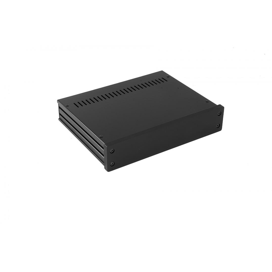1NGX247N - 1U Galaxy krabice, 230 x 170 x 40mm, 10mm panel černý, Fe víka