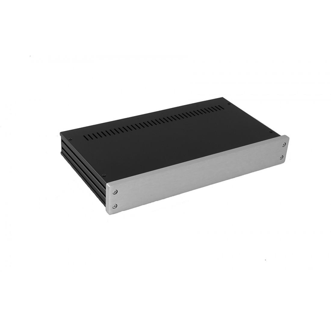 1NGX347 - 1U Galaxy krabice, 330 x 170 x 40mm, 10mm panel stříbrný, Fe víka