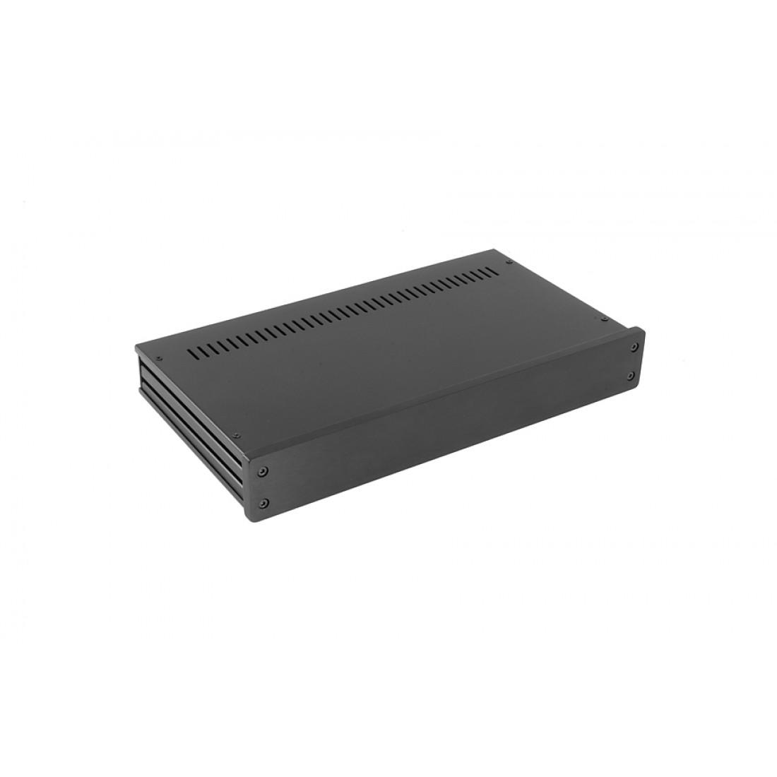 1NGX347N - 1U Galaxy krabice, 330 x 170 x 40mm, 10mm panel černý, Fe víka