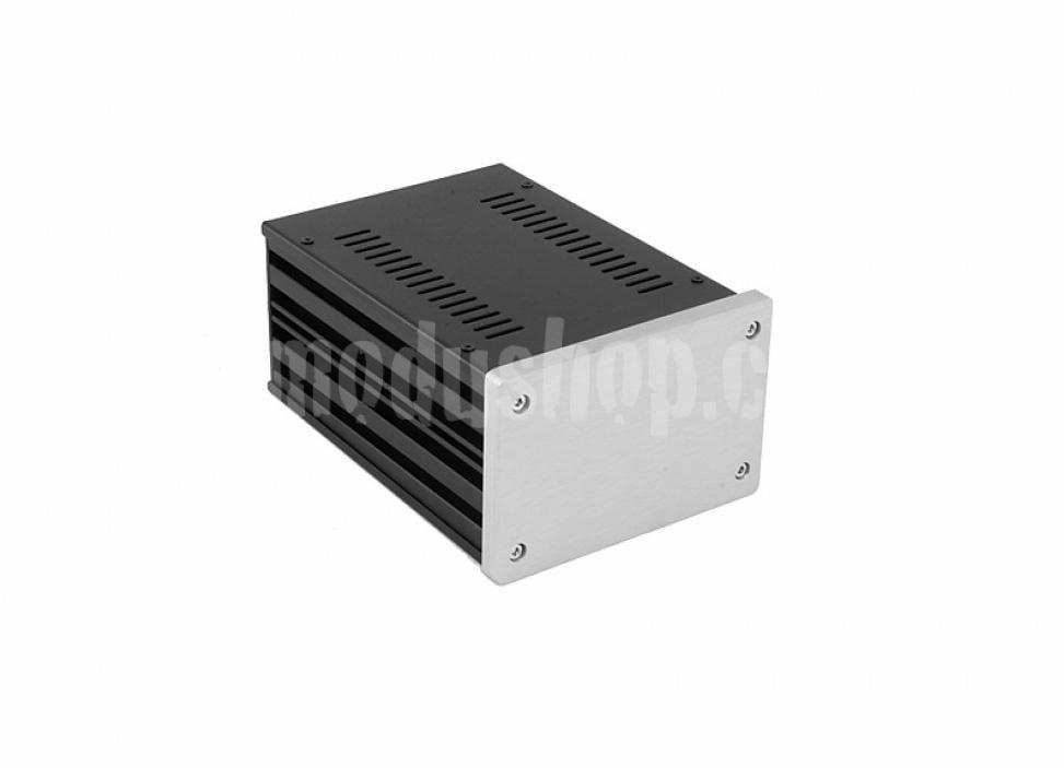 1NGX187 - 2U Galaxy krabice, 124 x 170 x 80mm, 10mm panel stříbrný, Fe víka