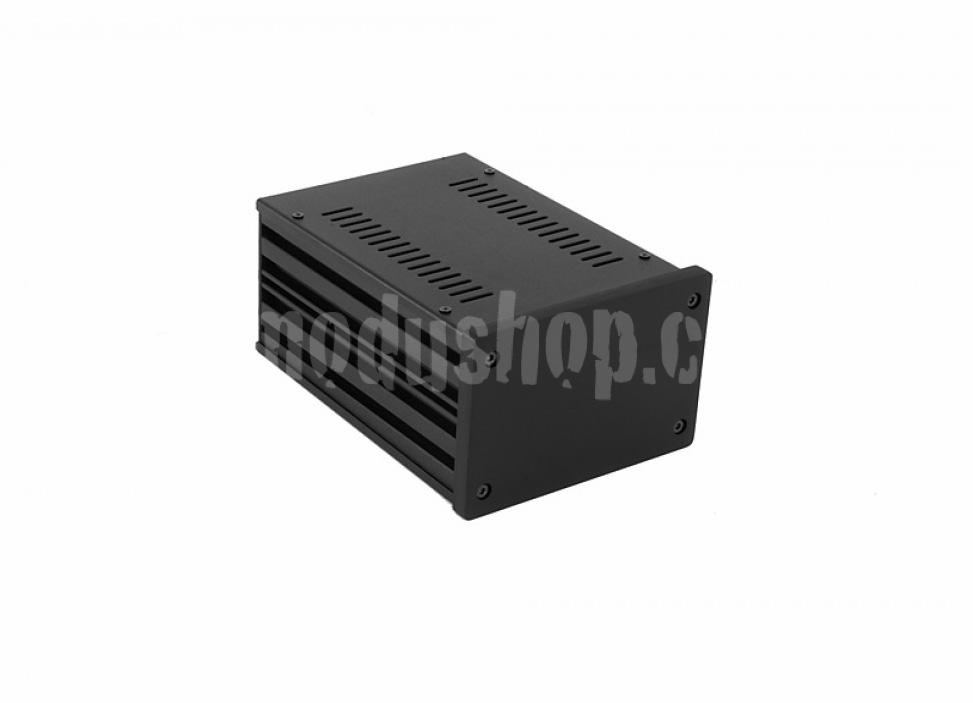 1NGX187N - 2U Galaxy krabice, 124 x 170 x 80mm, 10mm panel černý, Fe víka