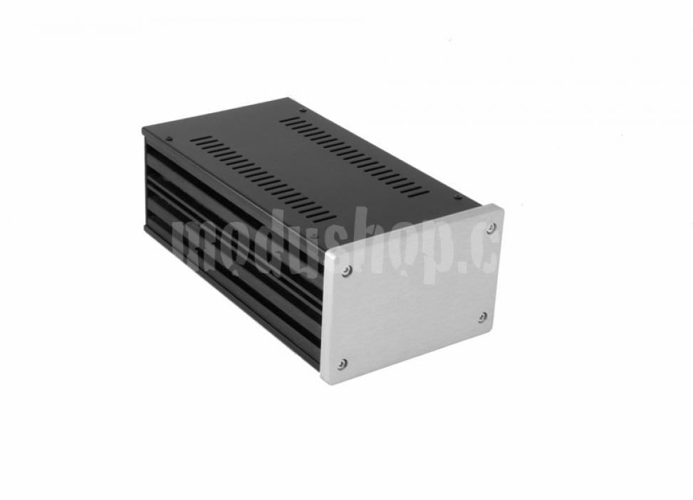 1NGX183 - 2U Galaxy krabice, 124 x 230 x 80mm, 10mm panel stříbrný, Fe víka