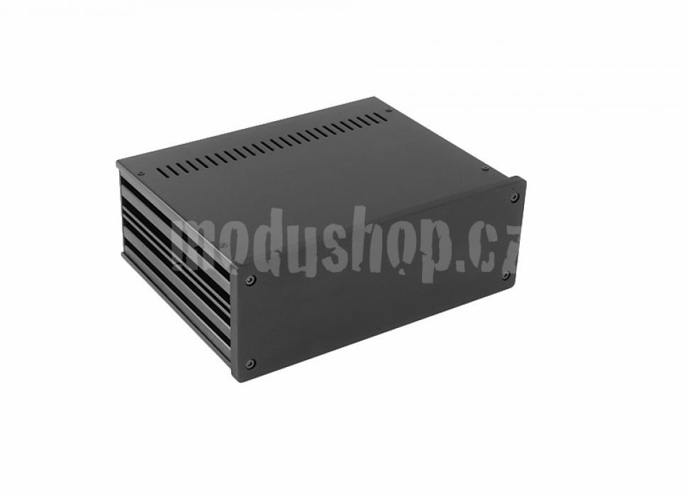 1NGX287N - 2U Galaxy krabice, 230 x 170 x 80mm, 10mm panel černý, Fe víka
