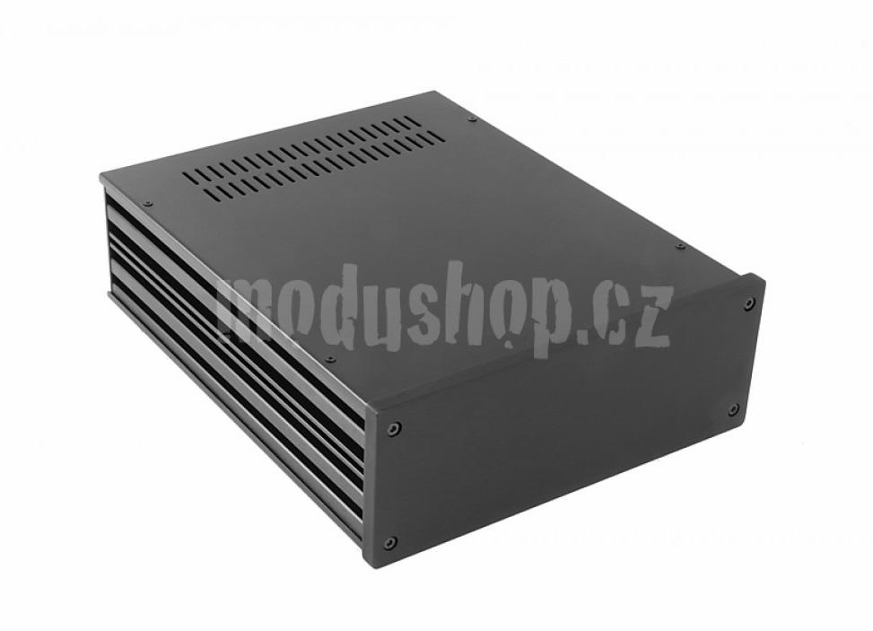 1NGX288N - 2U Galaxy krabice, 230 x 280 x 80mm, 10mm panel černý, Fe víka