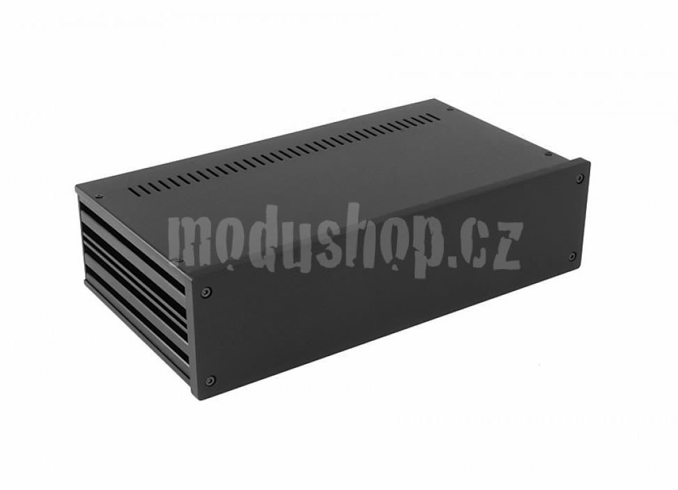 1NGX387N - 2U Galaxy krabice, 330 x 170 x 80mm, 10mm panel černý, Fe víka